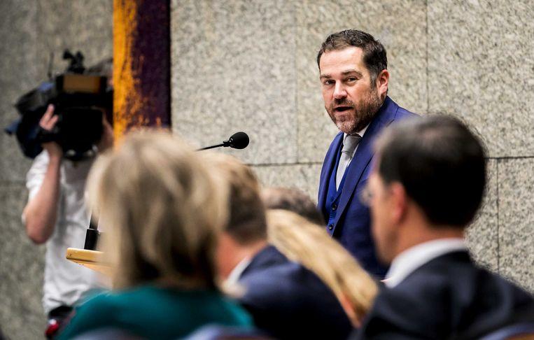 Klaas Dijkhoff (VVD) aan het woord op de tweede dag van de Algemene Politieke Beschouwingen. Beeld ANP