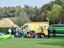 Ernstig ongeluk met springkussen in Esbeek: twee kinderen gewond, traumahelikopter geland