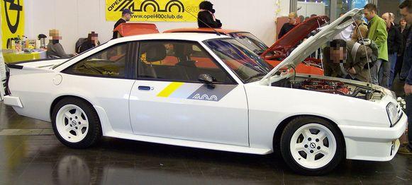 De Opel Manta 400.
