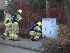 Brandweer doet onderzoek naar gaslucht in straat Nijkerk