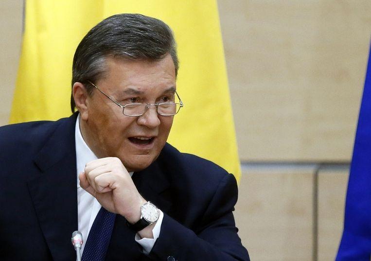 Een strijdvaardige Janoekovitsj Beeld epa