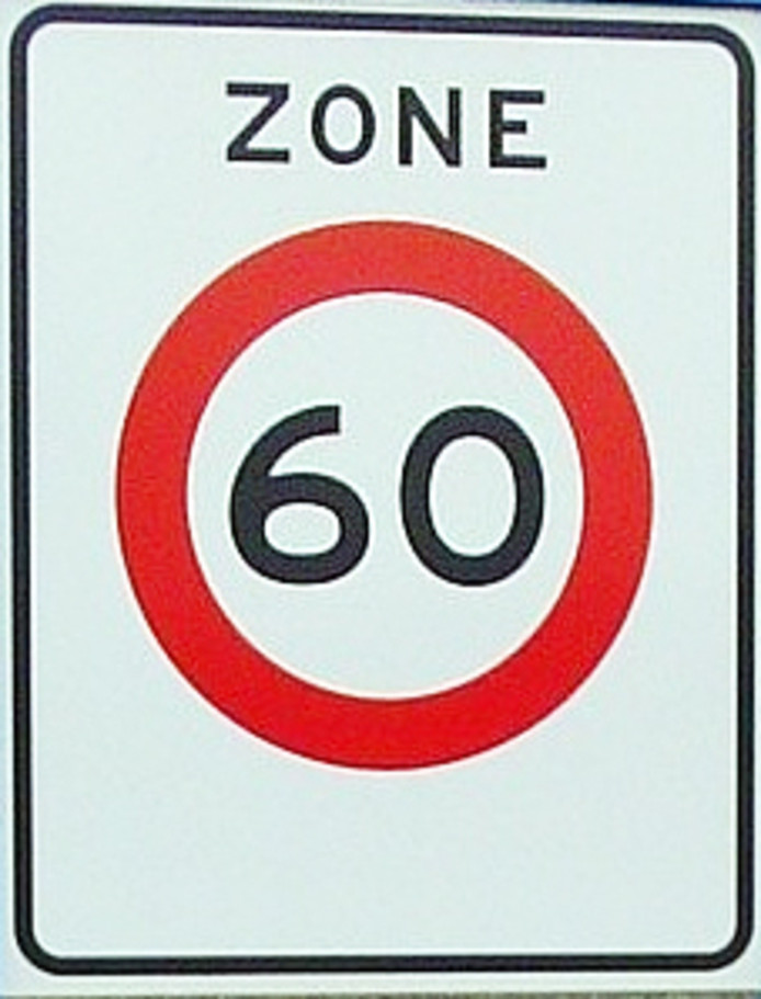 60 kilometerbord zone