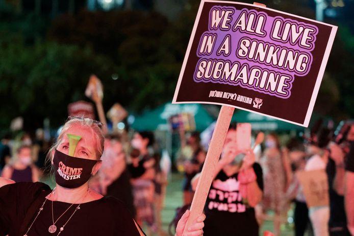 Demonstranten in Tel Aviv. (17/10/2020)
