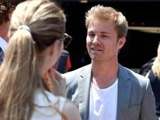 Regerend wereldkampioen Rosberg doet podiuminterviews in Monaco