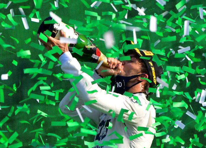 Pierre Gasly na winst bij de GP van Monza.