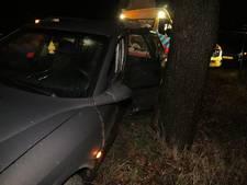 Bestuurder 45-km auto gewond bij ongeval