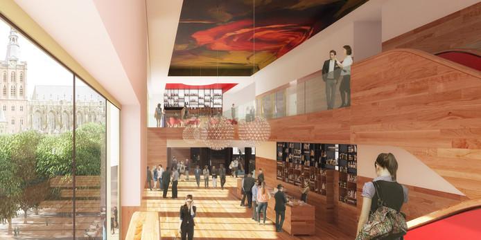 Het nieuwe ontwerp het interieur van Theater aan de parade van Ector Hoogstad Architecten.