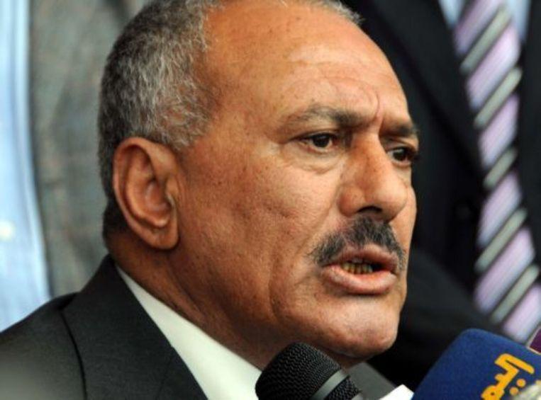 President Ali Abdullah Saleh van Jemen. EPA Beeld