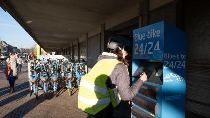 Meer Blue-bikes aan station van Mechelen