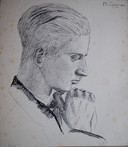 Meneer Hense, getekend door Bert Gorissen rond 1940