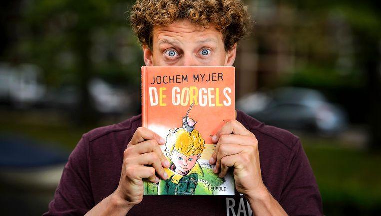 Myjer wordt bekroond voor de luisterversie van zijn eigen kinderboek De Gorgels. Beeld ANP Kippa