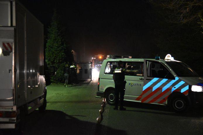 De hulpdiensten ter plaatse bij het indoor speelparadijs in Wijchen.