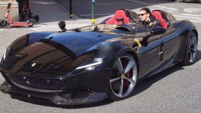 Zlatan scheurt met exclusieve Ferrari door straten van Stockholm, maar die rit krijgt wellicht nog een staartje