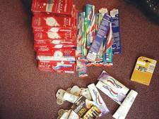 Politie vindt tassen vol gestolen tandpasta