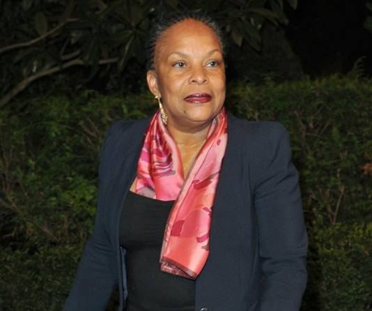 La Garde des Sceaux Christiane Taubira (ministre de la Justice)