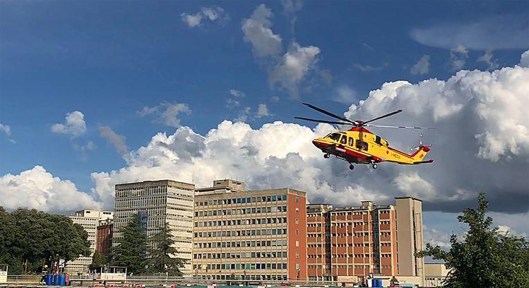 Alex Zanardi werd in deze helikopter overgebracht naar het ziekenhuis