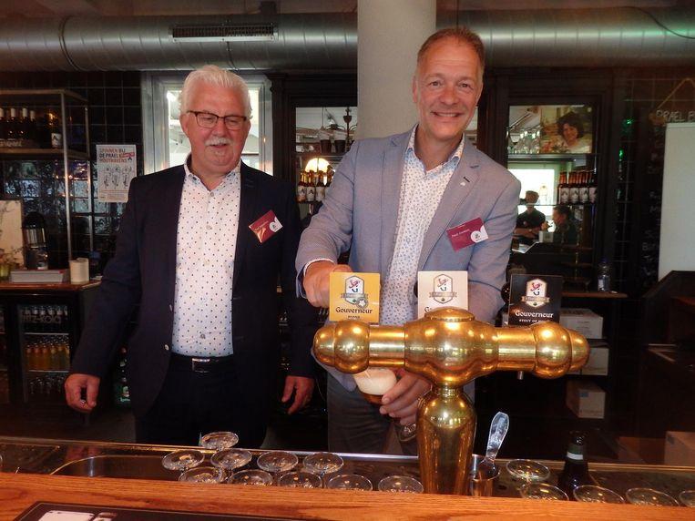 Ted Scheeren en Paul Joosten van brouwerij Lindeboom.