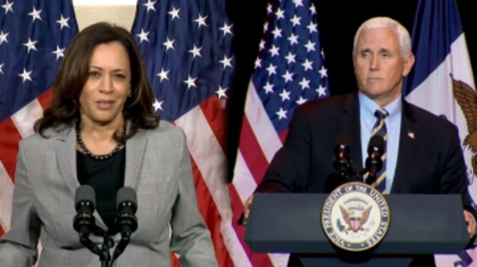 Kamala Harris et Mike Pence