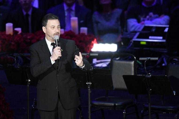 Jimmy Kimmel tijdens zijn speech