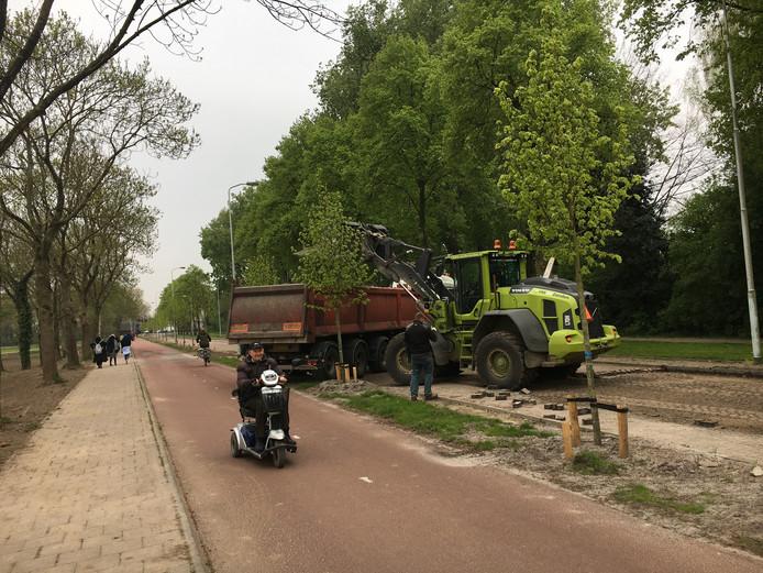 Het werk aan de afsluiting van de Karel Martelweg in Eindhoven is begonnen