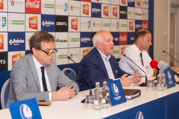 Michel Louwagie, Ivan De Witte en coach Jess Thorup.