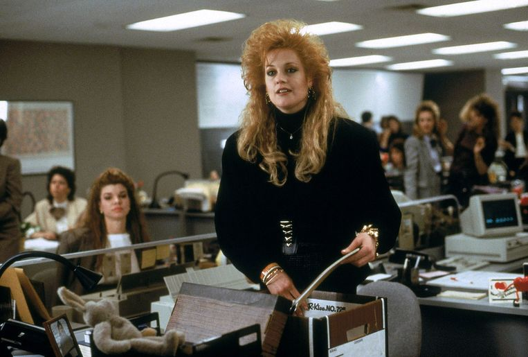 Melanie Griffith in Working Girl (1988). Beeld null
