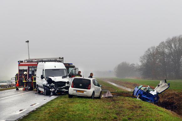 Het ongeval op de N210 bij Lekkerkerk.