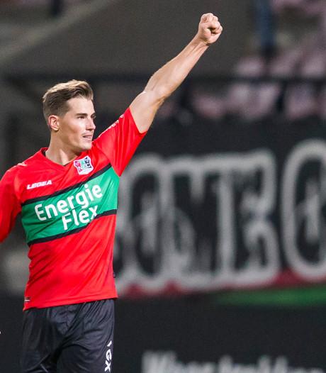 FC Emmen huurt NEC-topscorer Braken voor de rest van het seizoen