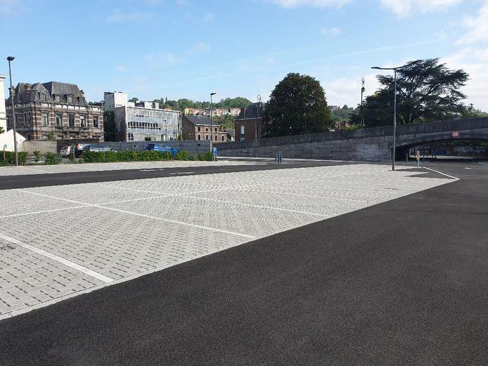 Le nouveau parking de délestage de la Ville de Huy.