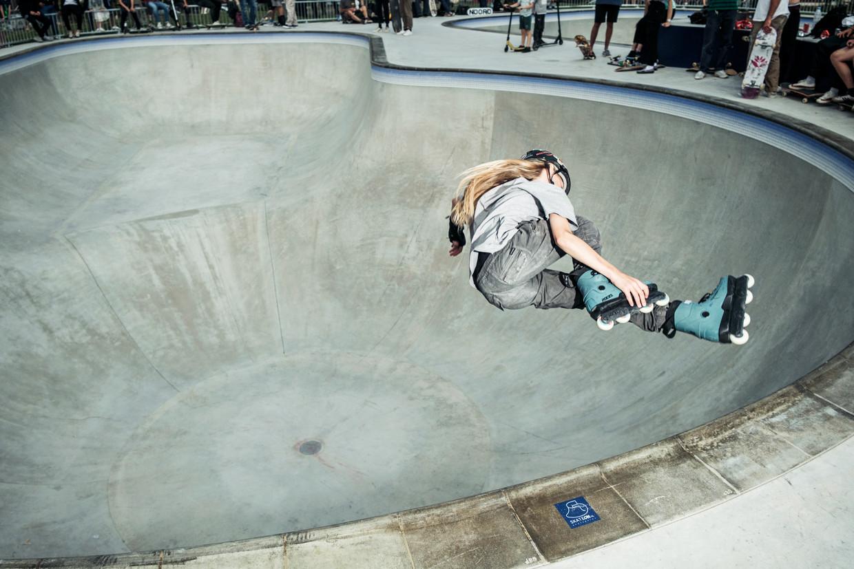 De grootste bowl van het skatepark is drieënhalve meter diep. Beeld Jakob Van Vliet