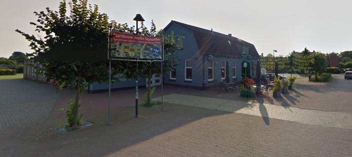 Het terrein van café Peeters in Braamt.