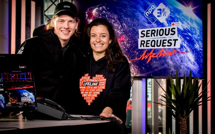 3FM-dj's Sander Hoogendoorn en Eva Koreman hebben als eerste Serious Request-duo het einddoel behaald. Vanmorgen kwamen ze onder luid gejuich aan bij het hoofdkwartier TivoliVredenburg.