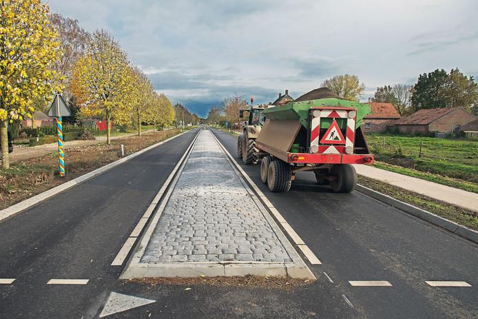 De 'nieuwe' Dorpenweg tussen Oss en Ravenstein.