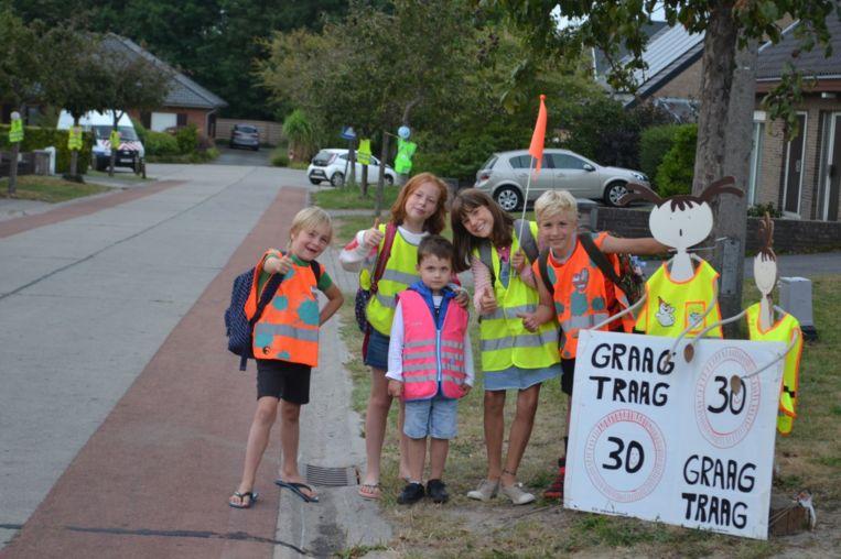 Ook de kinderen uit de buurt vragen trager verkeer.