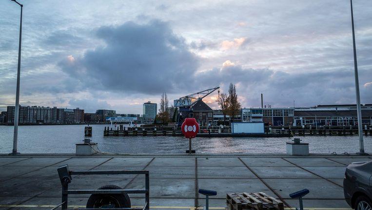Nu is het bedrijvigheid wat de klok slaat in het Hamerkwartier, straks ligt hier een nieuwe woonwijk waar ook gewerkt kan worden Beeld Rink Hof