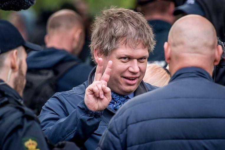 Rasmus Paludan, oprichter van de partij Stram Kurs (Strakke Koers).  Beeld EPA