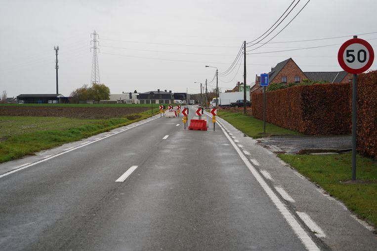 De proefopstelling in de Veldstraat.