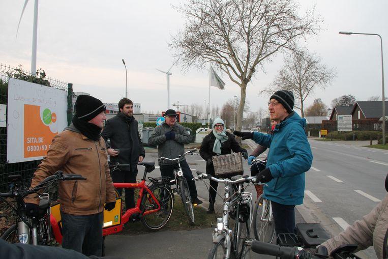 Groen nam met een symbolische fietstocht afscheid van gemeenteraadslid Filip Lombaert.