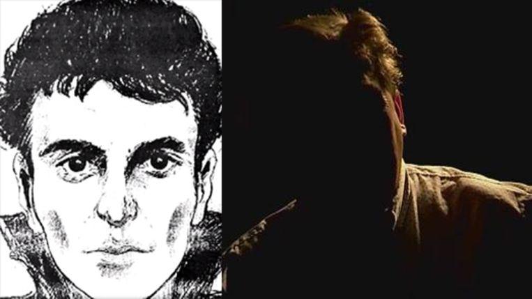 De anonieme getuige naast de robotfoto uit 2010 van een vermeend lid van de Bende van Nijvel, van wie de getuige vermoedt dat hij er oog in oog mee stond.