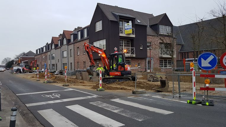 De werken in Achterbroek zijn gestart.