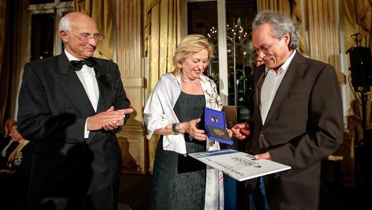 Alfred Birney, de winnaar van de Libris Literatuur Prijs in 2017. Beeld afp