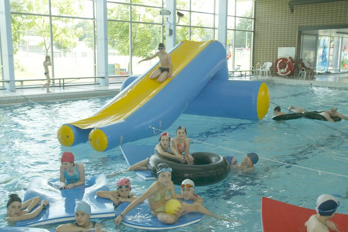 Het zwembad van Landen is gratis toegankelijk voor de Landenaren.