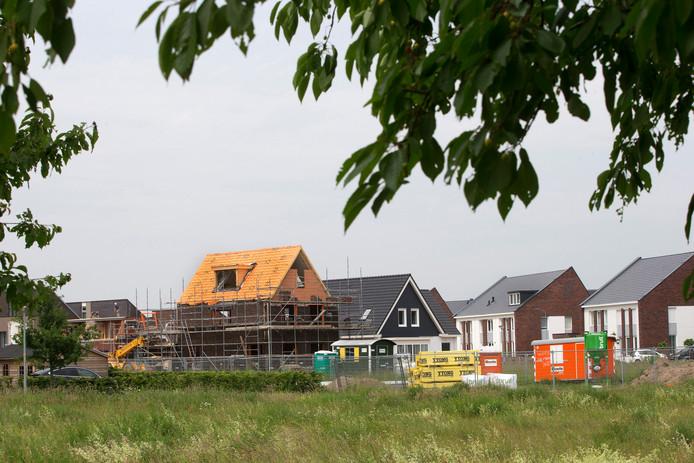 2019: bouw van woningen in de Zevenaarse wijk Groot Holthuizen.