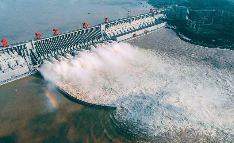 Voor de bouw van de Drieklovendam in China moesten 1 tot 2 miljoen mensen verhuizen. Beeld AFP