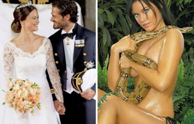 Sofia Hellqvist en prins Carl Philip van Zweden