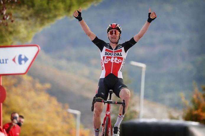 Tim Wellens mocht zegevieren in de rit naar Sabinanigo.