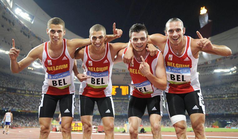 Cédric Van Branteghem, Jonathan Borlée, Arnaud Ghislain, Kevin Borlée