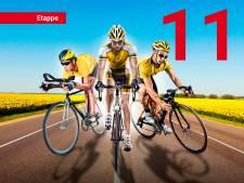 Lezerstour: Van eldik sprint in bergetappe naar het geel