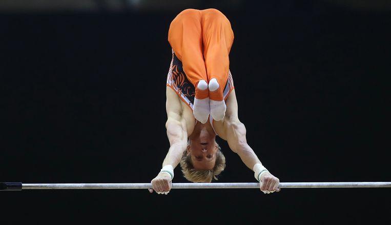 Epke Zonderland wil zijn derde Europese titel winnen. Beeld AFP