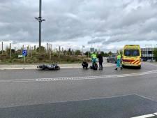 Aanrijding tussen motor en auto op rotonde Provincialeweg in Beugen